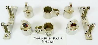 Marine Bimini Canopy Stainless Steel fittings  pack 2 MH 0121