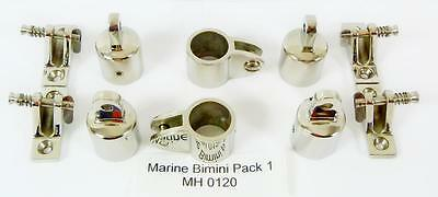 Marine Bimini Canopy Stainless Steel fittings  pack 1 MH 0120