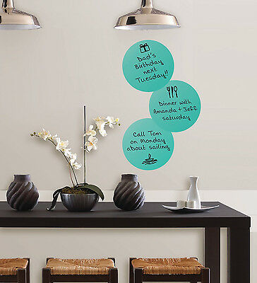 Peel&Stick Dry-Erase Dots With Marker 3-Count 13x13 Inch Circular Wall Stickers
