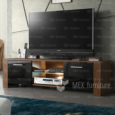 NEW ! TV Unit Cabinet, Sideboard Cupboard TV Stand -High Gloss Doors  FREE LED !