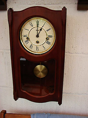 Vintage German 'Hermle' 8-Day Wall Clock with Westminster Chimes