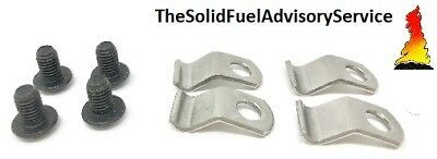 Glass Clips And Screws For The Morso Squirrel Stove Badger Dove Panther Swan Lio
