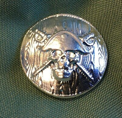 "2oz YPS ""Jolly Roger"" 999+ fine silver bullion bar ""Yeager's Poured Silver"""