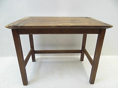 Antique Old Wood Four Legged End Table Bedside Rustic Furniture Unbranded