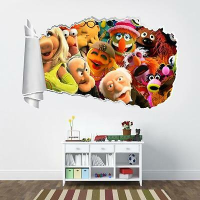 The Muppets 3D Torn Hole Ripped Wall Sticker Decal Home Decor Art Mural WT73