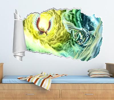 Sky Pokemon 3D Torn Hole Ripped Wall Sticker Decal Home Decor Art Mural WT67