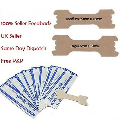 Nasal Strips - Stop Nose Snoring - Right Aid Regular Reg or Large + Free Strips