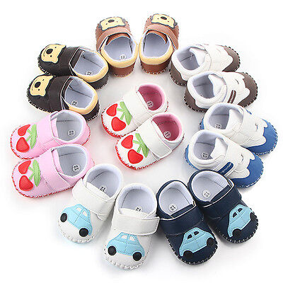Baby Newborn Toddler Infant leather shoes boy girl Soft Sole Crib Shoes Toddler