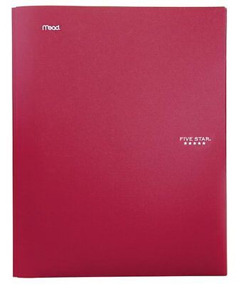 Five Star Stay-Put Pocket Folder 11.62 x 9.31 x .25 Inches Red 72109