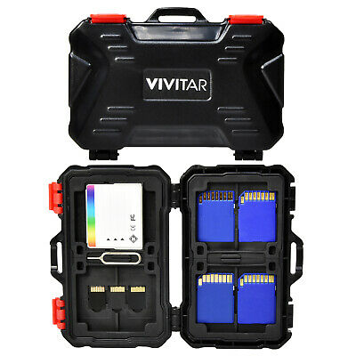 Vivitar Memory Card Hard Protector Case - Holds 4 CF 8 SD & 12 MicroSD Cards