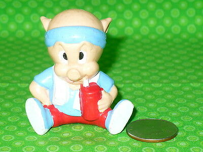 "Applause Warner Bros Looney Tunes PORKY PIG Exercise Workout PVC Figure 2"" tall"
