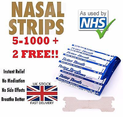 5 - 1000 NHS Nasal Sleep strips better breathe Stop Snoring Breath Easier Uk p&p