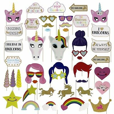 Find Your Rainbow Unicorn Photo Booth Props
