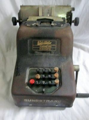Vtg Sundstrand Jr. Speed Adding Machine 1920s Cash Register STEAMPUNK Display Re