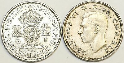1937 to 1946 George VI Silver Florin Your Choice of Date