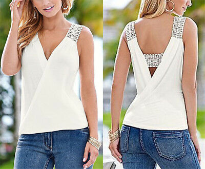 Sleeveless Top Women Fashion Summer Blouse T-Shirt Blouse Vest Casual Tank Tops
