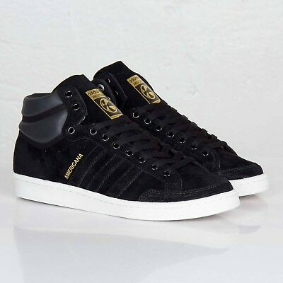 the best attitude 3068a c90e5 Adidas Originals Americana Hi 88 Gold Black Mens Lifestyle Sneakers New  G96846