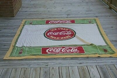 Quilt Advertising Coca Cola when it was 5 Cents