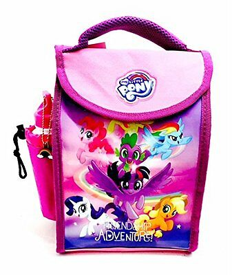 My Little Pony 'friendship' Childrens Pink Kid Lunch Bag With Sports Bottle