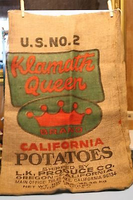 KLAMATH QUEEN BRAND  (potatoe sack) 100 lb.