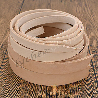 1pc DIY Blank Veg Tanned Leather Strip Strap Belt 100-130cm Various Width Craft