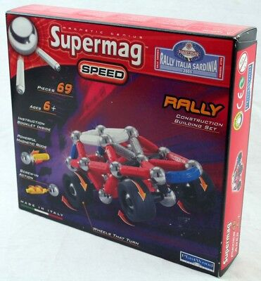Plastwood 0200 - Supermag Rally ab 6 + Teile 69 Magnet Konstruktion Set