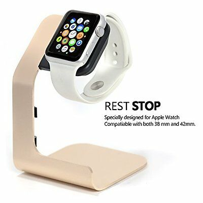 Apple Watch Stand Charging Dock Station Accessories Chargers Aluminum Gold New
