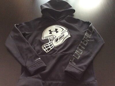 Boys Under Armour Storm1 Football Hoodie Pullover - Size Youth Large - Black