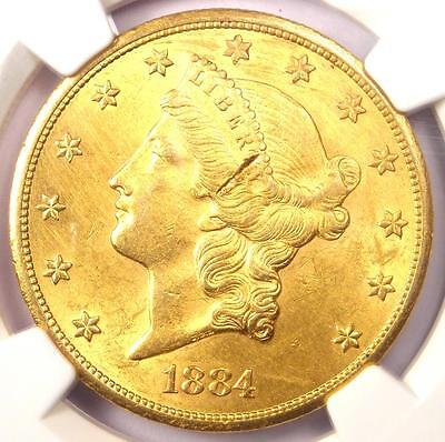 1884-CC Liberty Gold Double Eagle $20 Coin - NGC Uncirculated Details (UNC MS)!