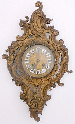 Antique French Rococo Wall Clock