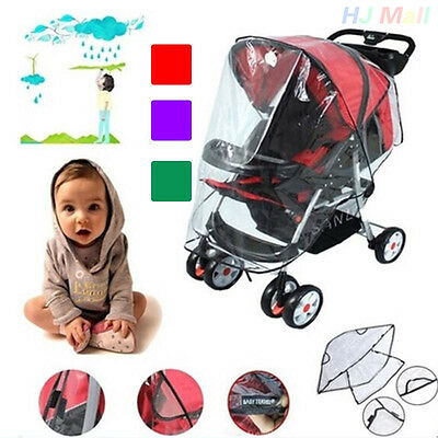 Baby Universal Waterproof Stroller Rain Cover Wind Shield Pushchair Cover