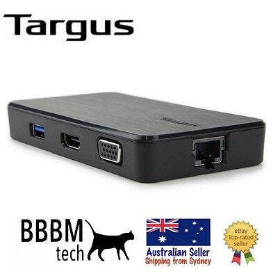 Targus DOCK110AU USB 3.0 Dual Video Travel Docking Station