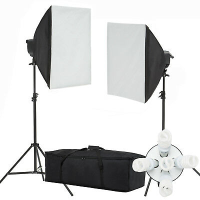 2000W Photo Video Studio Photography Softbox Light Stand Continuous Lighting Kit