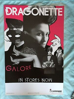 Dragonette promotional 12x18 official limited promotional poster GALORE