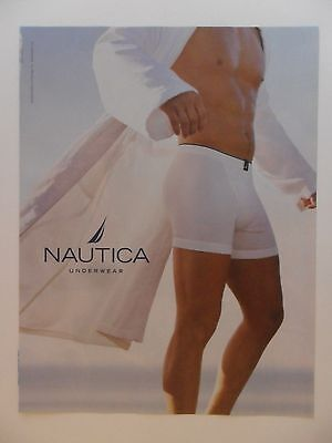 2003 Print Ad Nautica Men's Underwear Briefs ~ Sexy Guy Robes
