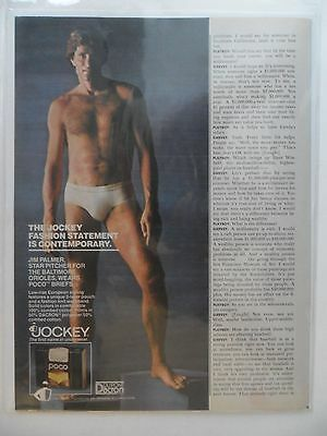 1981 Print Ad JOCKEY POCO Men's Underwear Briefs ~ Jim Palmer Baseball Star