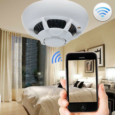 WiFi SPY IP Camera Hidden Smoke Detector Motion Detection Nanny Cam DVR HD 1080P