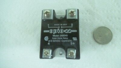 OPTO 22 Solid State Relay, 240D45, 240 VAC, 3-32 VDC,45 amp, USA made, nos