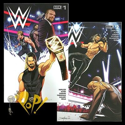 WWE #1 and #2 Regular Cover Set BOOM Studios COMICS Seth Rollins SOLD OUT NM!