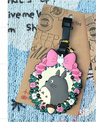 TOTORO Rubber Travel Lugguage School Bag Handbag Name Address ID Tag Holder