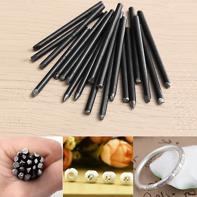 20pcs Set Assorted Punches For Jewelry Flower Gold Punch Stamp Steel Stamp Tools