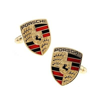Porsche Cufflinks Gold Plated Local Stock Free Shipping
