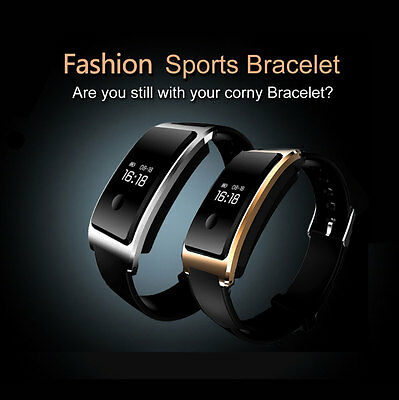 Smart Wristband Bracelet Blood Pressure Watch Fitness Track Heart Rate Monitor