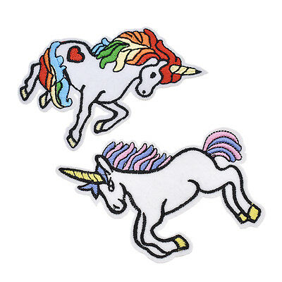 Embroidery Unicorn Horse Pony Sew Iron On Patch Badge Fabric Applique Bag DIY
