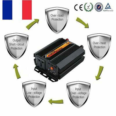 3000W Voiture Power Inverter DC 12V AC 220V Convertisseur électronique Port USB