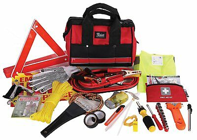 Roadside Emergency Kit Car Reflective Safety Triangle First Aid Jumper Cable Set