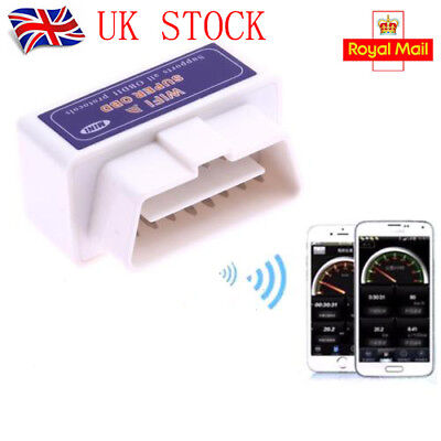 Super WiFi OBD2 Car Diagnostics Scanner Scan Tool for iPhone iOS Android PC UK
