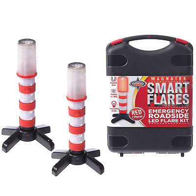 Emergency Roadside Flare Red LED Beacons Standing Warning Light Battery 3000 Ft