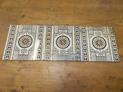 Victorian Minton Fireside Tile Border Wall Ceramic Fireplace Tiles