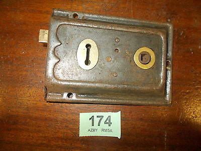 Antique Rim Lock Door Latch Locks Duel Handled 174